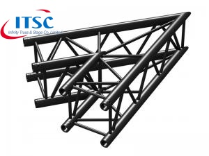 stage lighting black truss corner